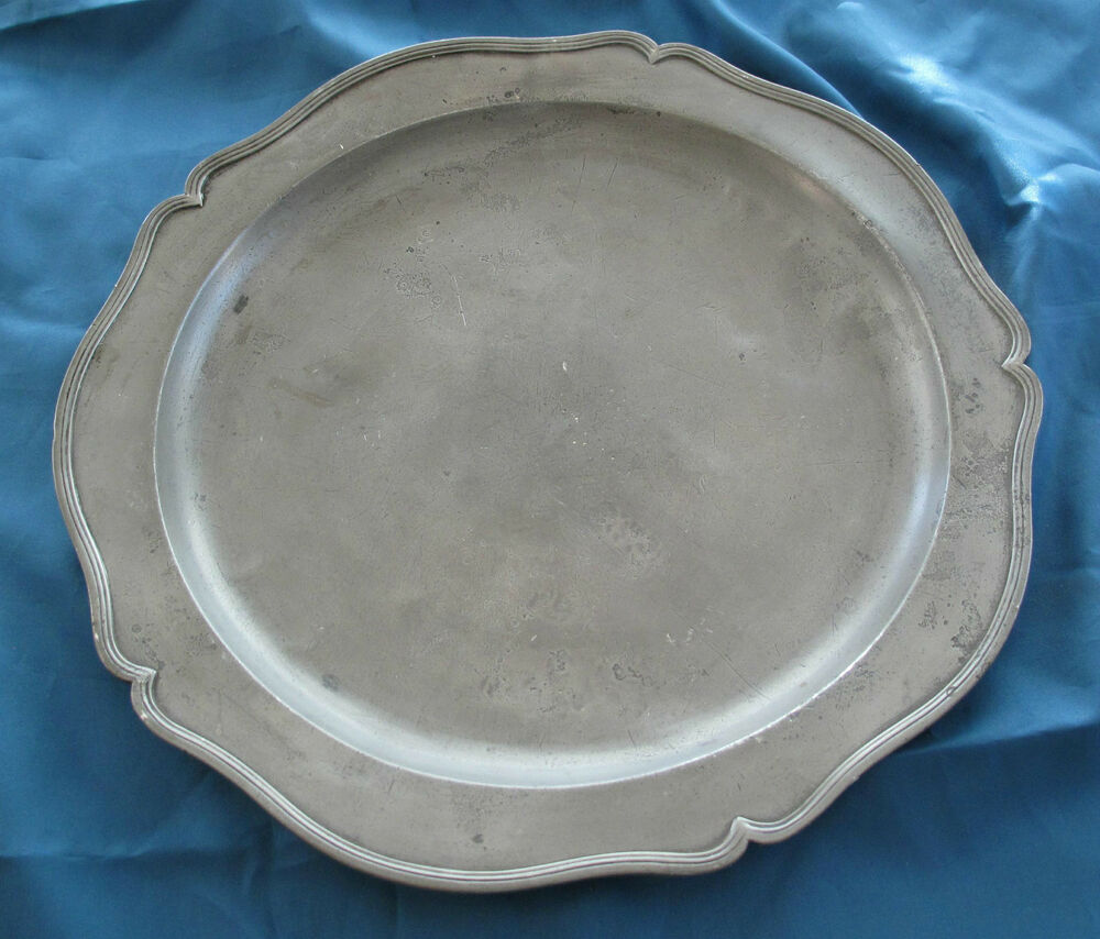 Antique Pewter Plates : S german early american antique pewter charger