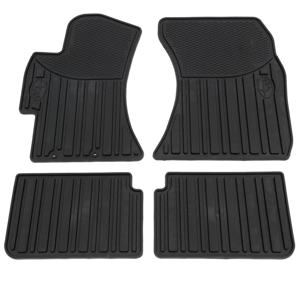 oem 2008 2014 subaru all weather rubber floor mats impreza. Black Bedroom Furniture Sets. Home Design Ideas