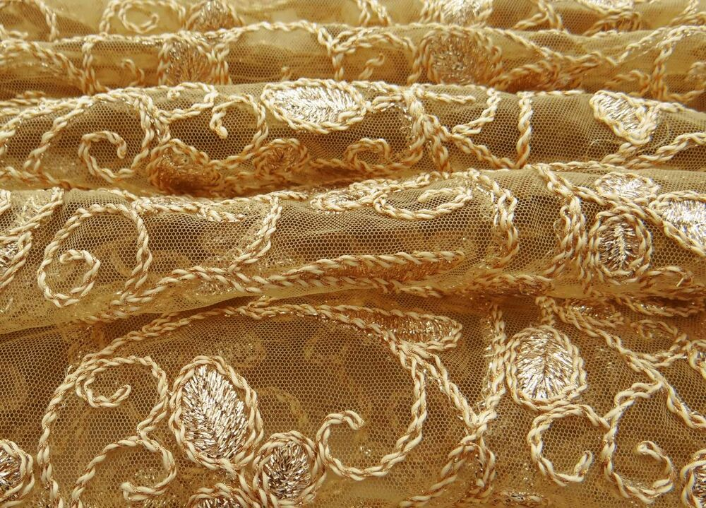 Net Fabric Crafting Sheer Fabric Embroidered Drape 44 Wide By The Yard Fbd149a Ebay