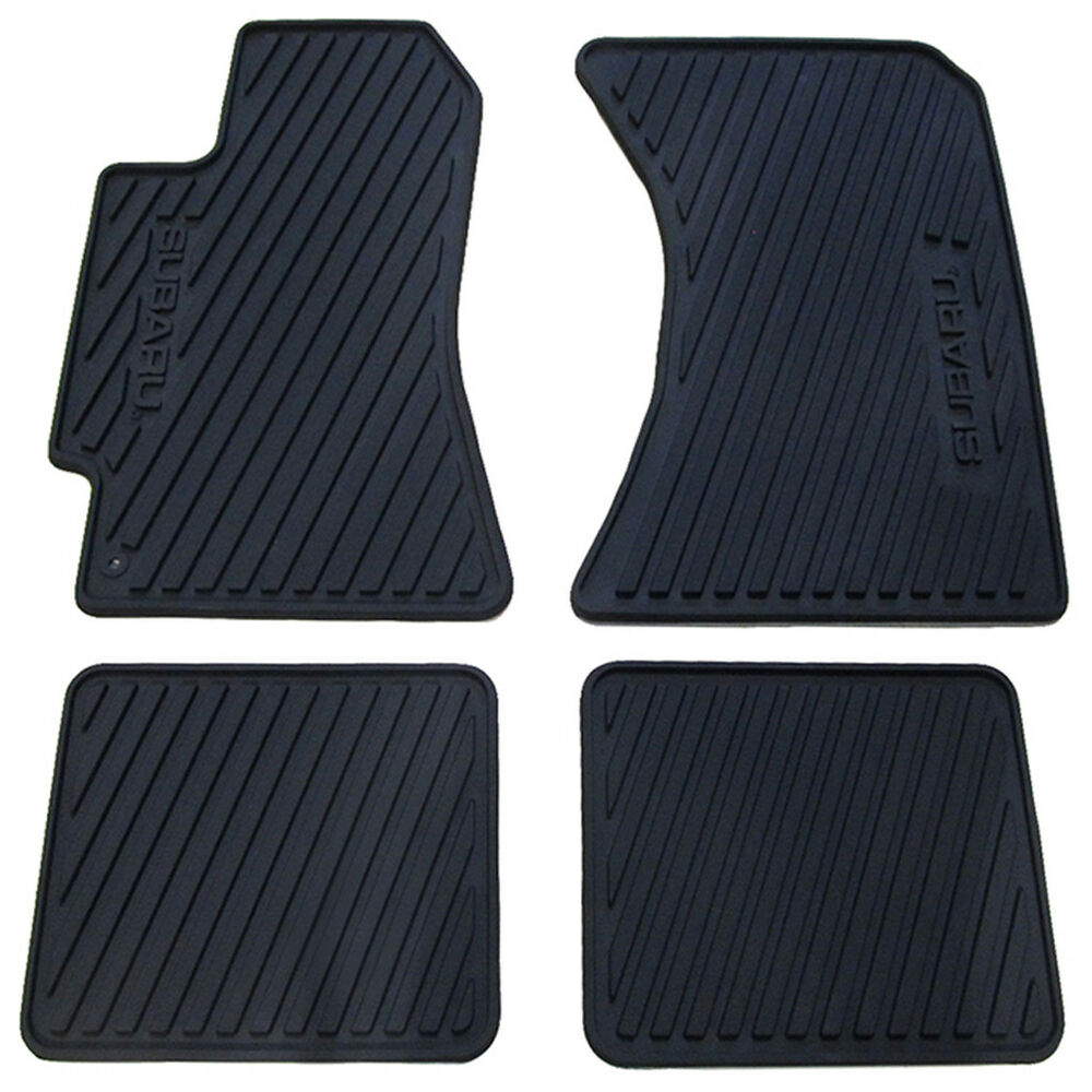 2000 04 Subaru Legacy Amp Outback 03 06 Baja All Weather Floor Mats Rubber Oem New Ebay