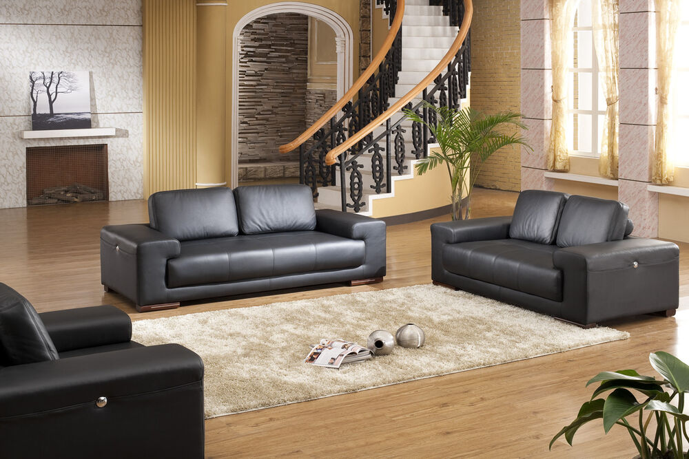 voll leder sofa garnitur polsterm bel sessel ledersessel ledersofas 5042 3 2 1 ebay. Black Bedroom Furniture Sets. Home Design Ideas
