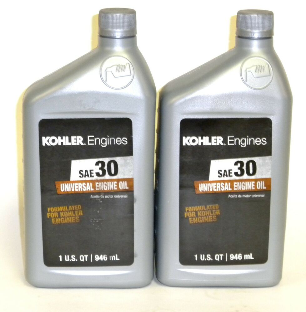 2 kohler engines sae 30 engine oil 1 quart bottles 25 for Used motor oil sds
