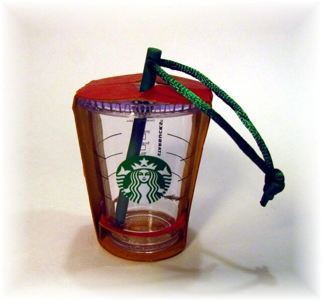 STARBUCKS 2014 TO GO COLD CUP TUMBLER WITH STRAW CHRISTMAS ORNAMENT NWT | eBay