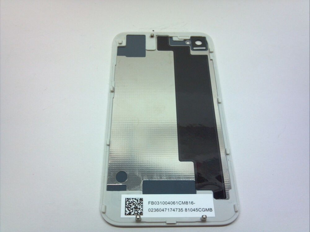 New white oem iphone 4s back glass rear door battery cover for White back door