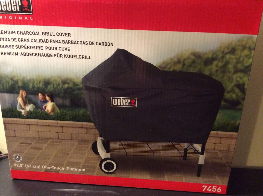 weber premium charcoal grill cover fits one touch platinum grills 22 5 new ebay. Black Bedroom Furniture Sets. Home Design Ideas