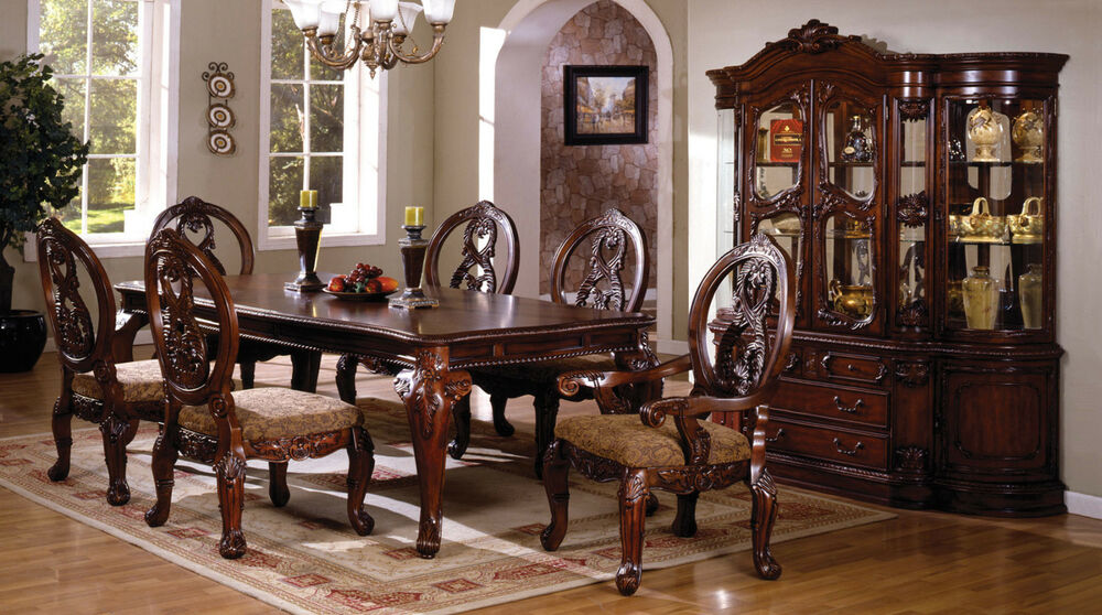 Dining Room 7pc Dining Set Formal Dining Table Chairs