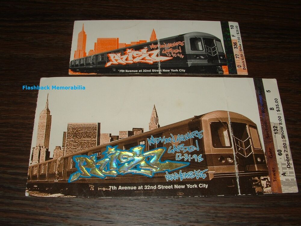 2 phish concert ticket lot 1998 madison square garden nye - Phish madison square garden tickets ...