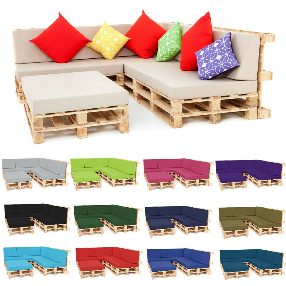 pallet seating garden furniture diy trendy foam cushions with waterproof covers ebay. Black Bedroom Furniture Sets. Home Design Ideas