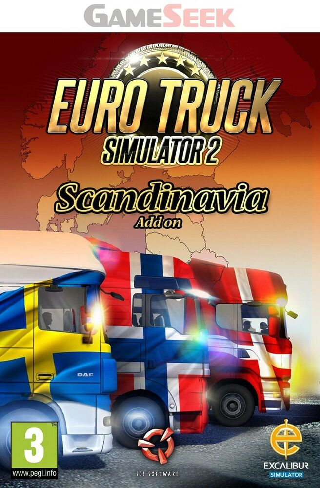 euro truck simulator 2 scandinavia add on pc brand new. Black Bedroom Furniture Sets. Home Design Ideas