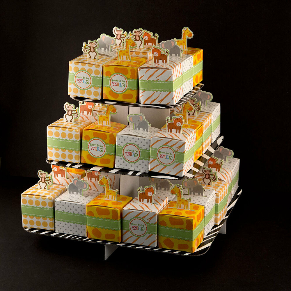 Boxes For Baby Shower Favors: 24 Mix Born To Be Wild Baby Shower Jungle Safari Theme