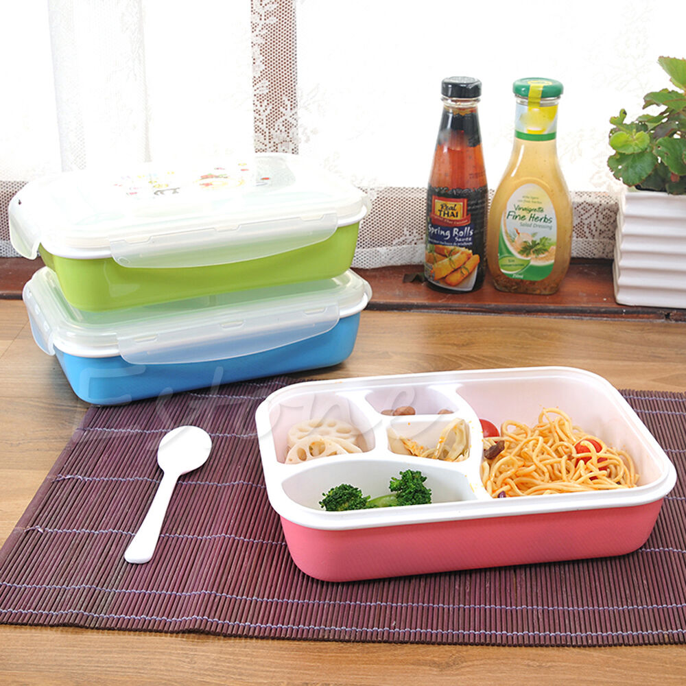 Microwave Food Container ~ Portable microwave lunch box picnic bento food container