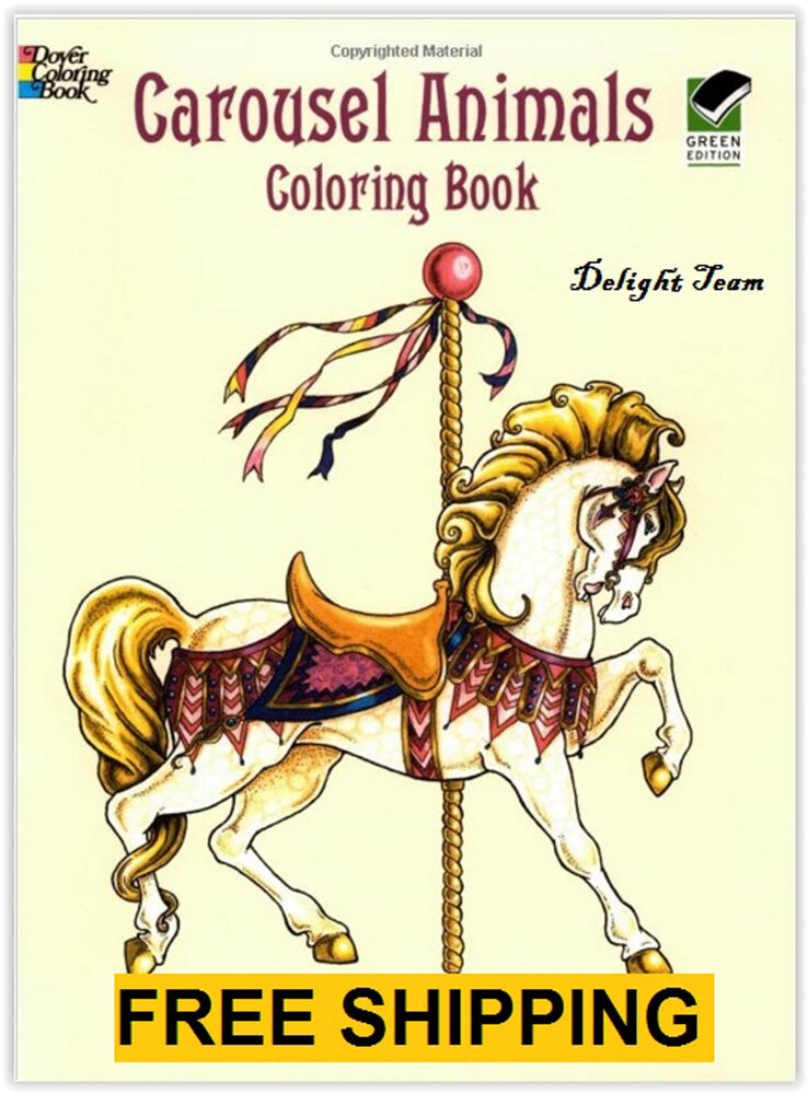 Coloring Books For Adults Beautiful Carousel Animals Anti