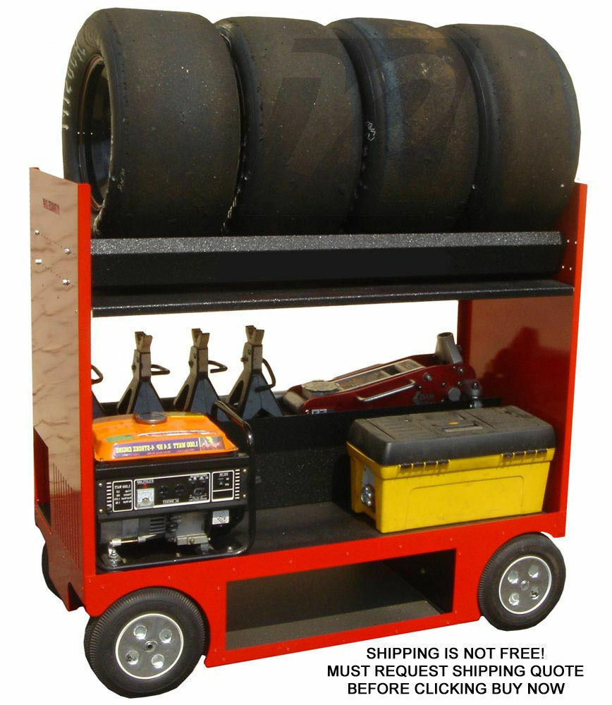 RSR Pit Box Pitbox Rolling Portable Racing Toolbox Cart