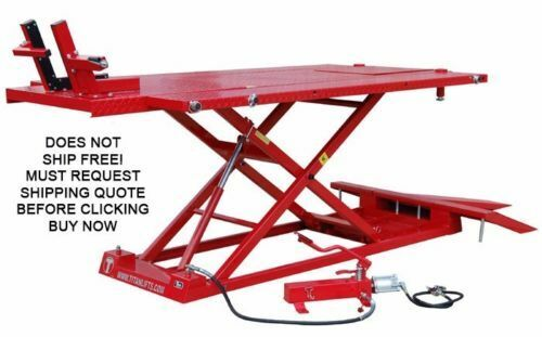 10000 Lb Car Lift >> NEW Titan 1500XLT 1500 lb Motorcycle ATV Lift Lifting Table With Side Extensions | eBay