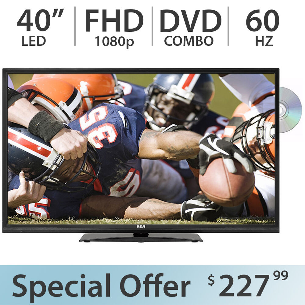 "RCA 40"" Inch 1080p FULL HD LED TV FHD 60Hz W/ DVD Combo"