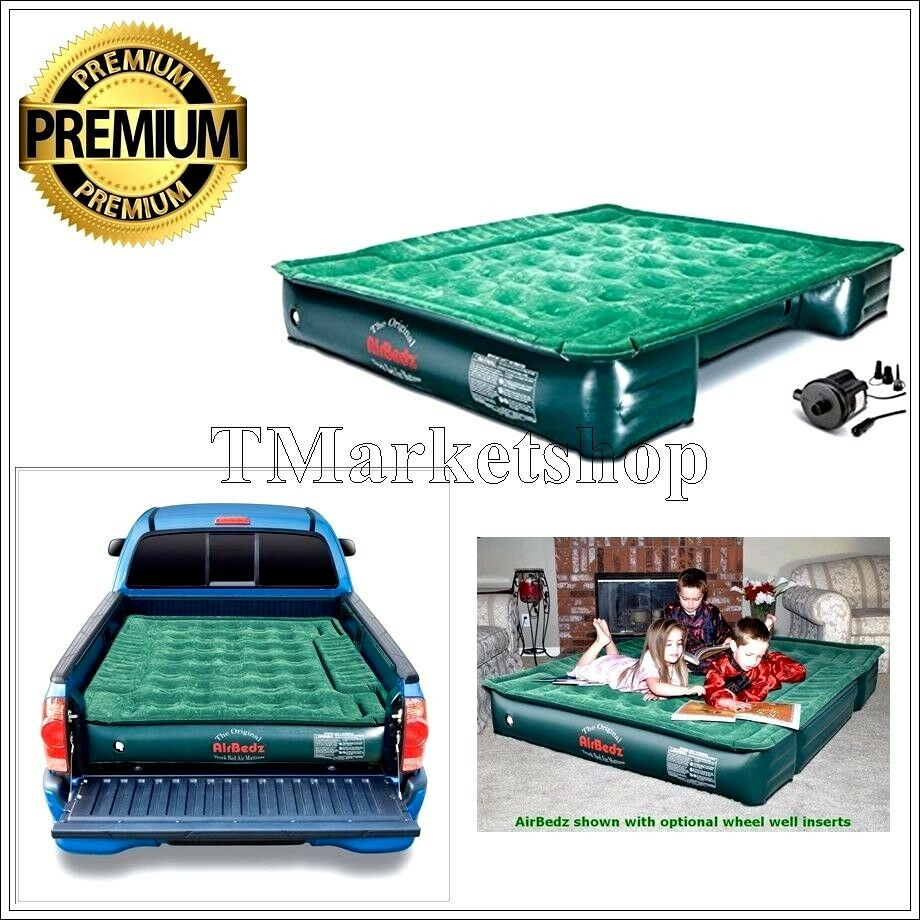 mattress air bed truck inflatable airbed full size 6 39 8 39 travel camping w pump ebay. Black Bedroom Furniture Sets. Home Design Ideas