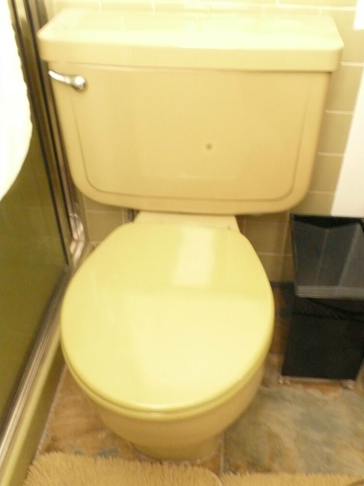 Vintage Mid Century Gold Toilet Available Totally