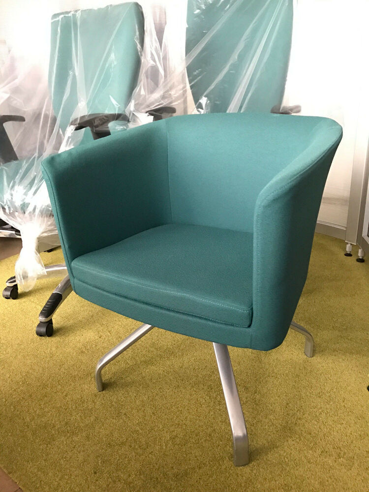 Herman miller bozo rx659 rotating tub chair retro spyder base in green ebay - Herman miller bucket chair ...