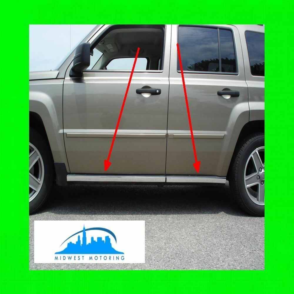 2007 2014 Jeep Patriot Chrome Rocker Panel Trim Molding
