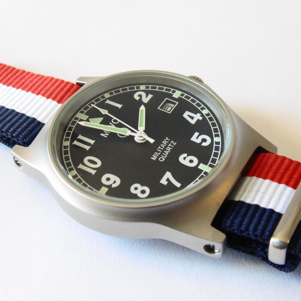 MWC G10 LM Military Watch French Strap, Date, 50m Water ...