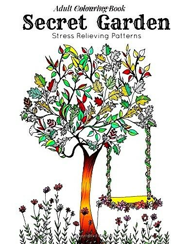 Secret Garden Adult Coloring Book 84 Page 41 Designs Nature Pattern Stress Relax 9781518736056