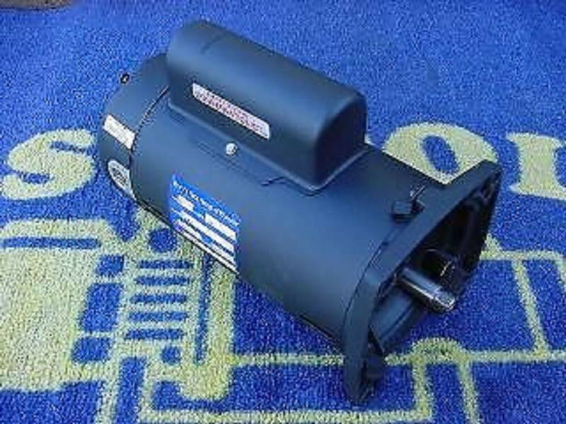 1 5 hp square flange pool pump motor 1 year warranty ebay for Square flange pool pump motor