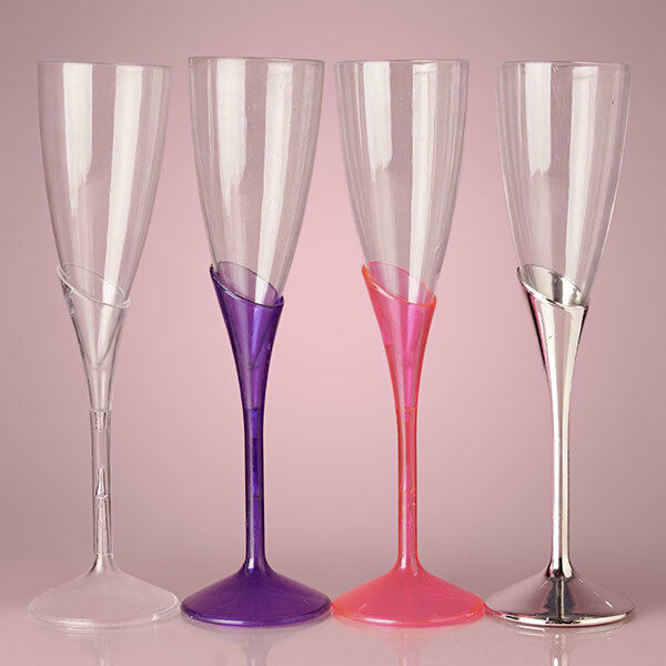 Plastic Champagne Wine Flutes Party Wedding Disposable
