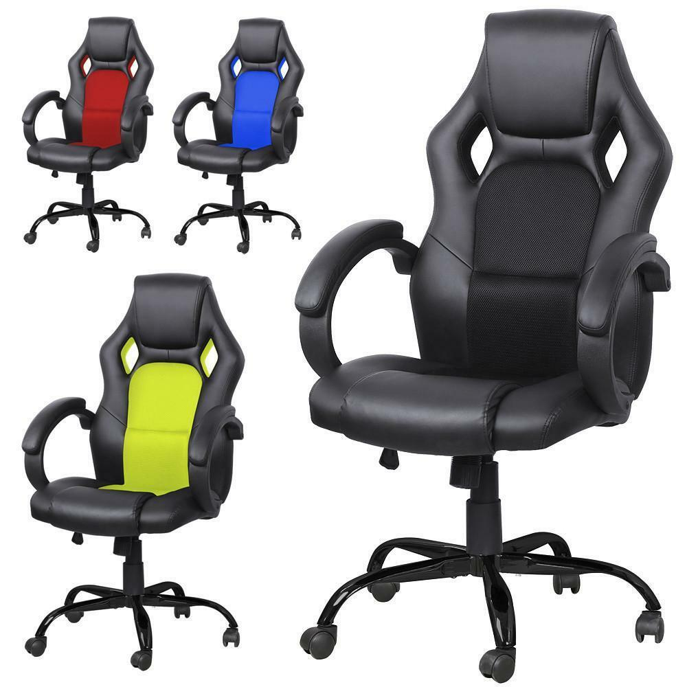 New PU Leather Executive Racing Style Bucket Seat Chair