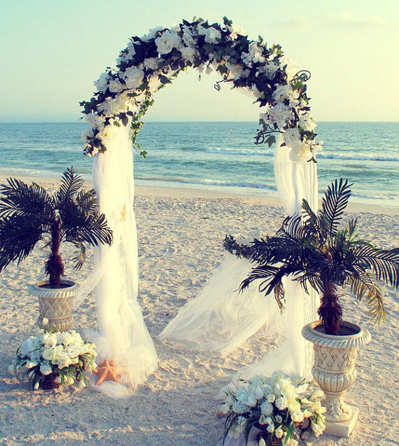 Wedding Arch Simple Decorations: 7.5ft White Metal Wedding Arch Garden Decoration Bridal