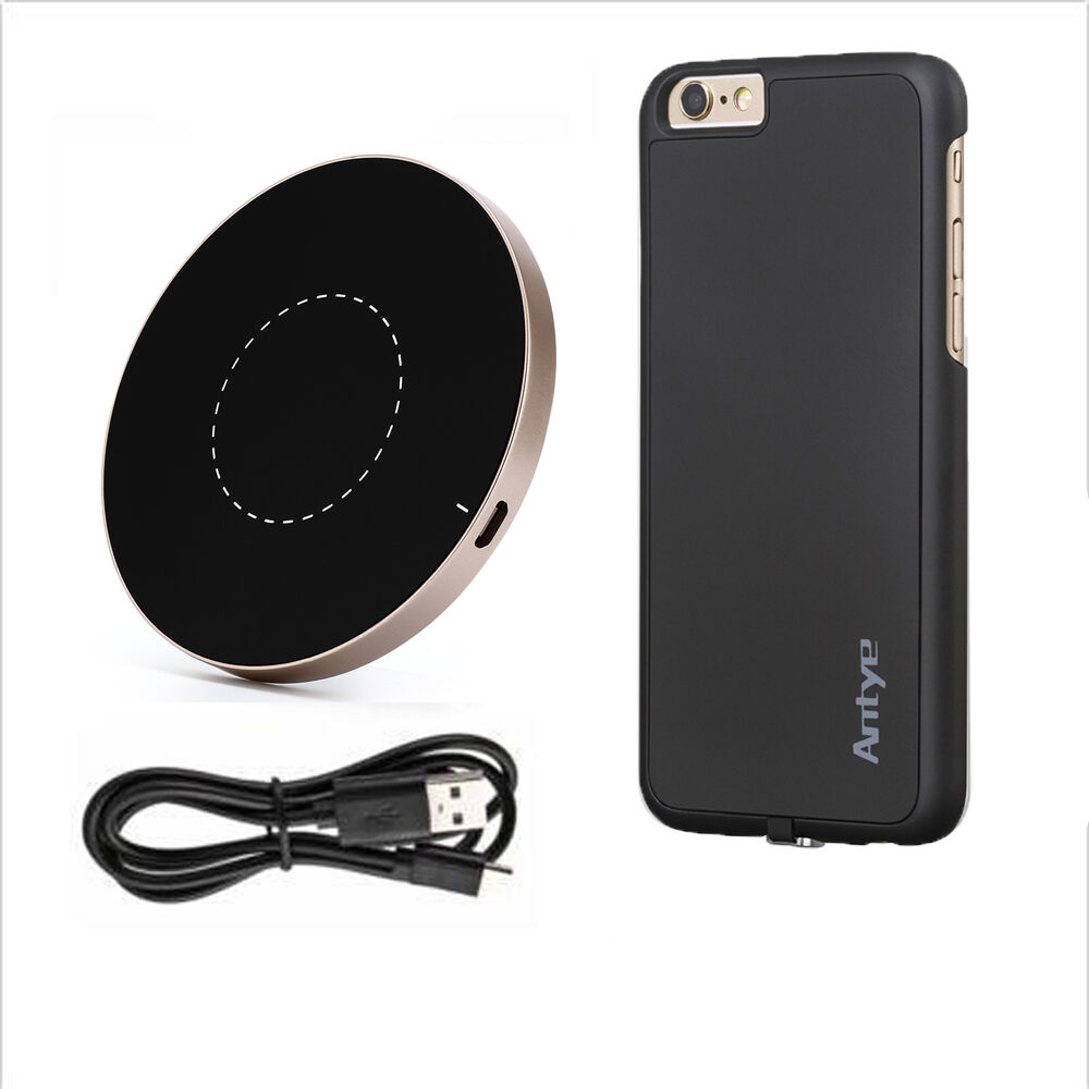 qi wireless charger for iphone 6 6s 6 plus 6s plus round. Black Bedroom Furniture Sets. Home Design Ideas
