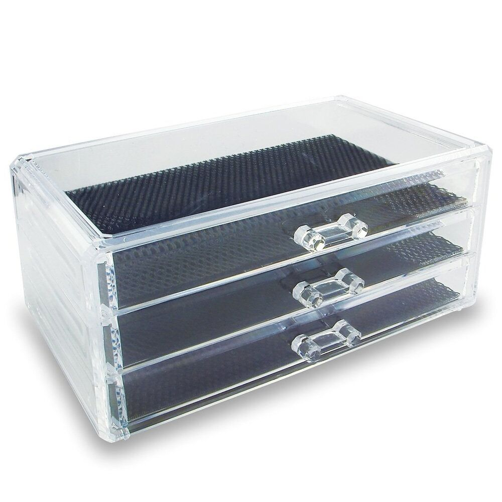 3 Drawer Acrylic Jewelry Amp Cosmetic Storage Display Box