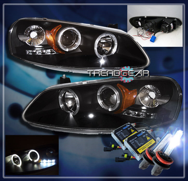 2001 Dodge Stratus Halo Led Projector Headlights Hid Black