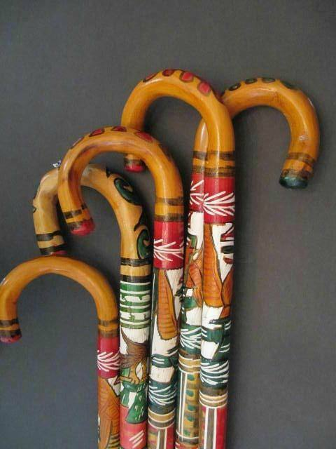 Wooden Cane Designs Hand Carved Woo...