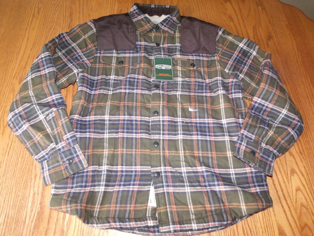 Nwt Mens Field And Stream Flannel Plaid Jacket Coat Shirt