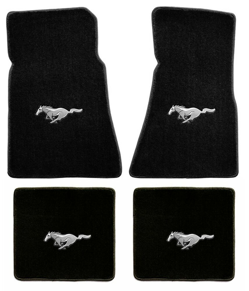 New floor mats 1965 1973 ford mustang 4pc set coupe for 1967 ford mustang floor mats