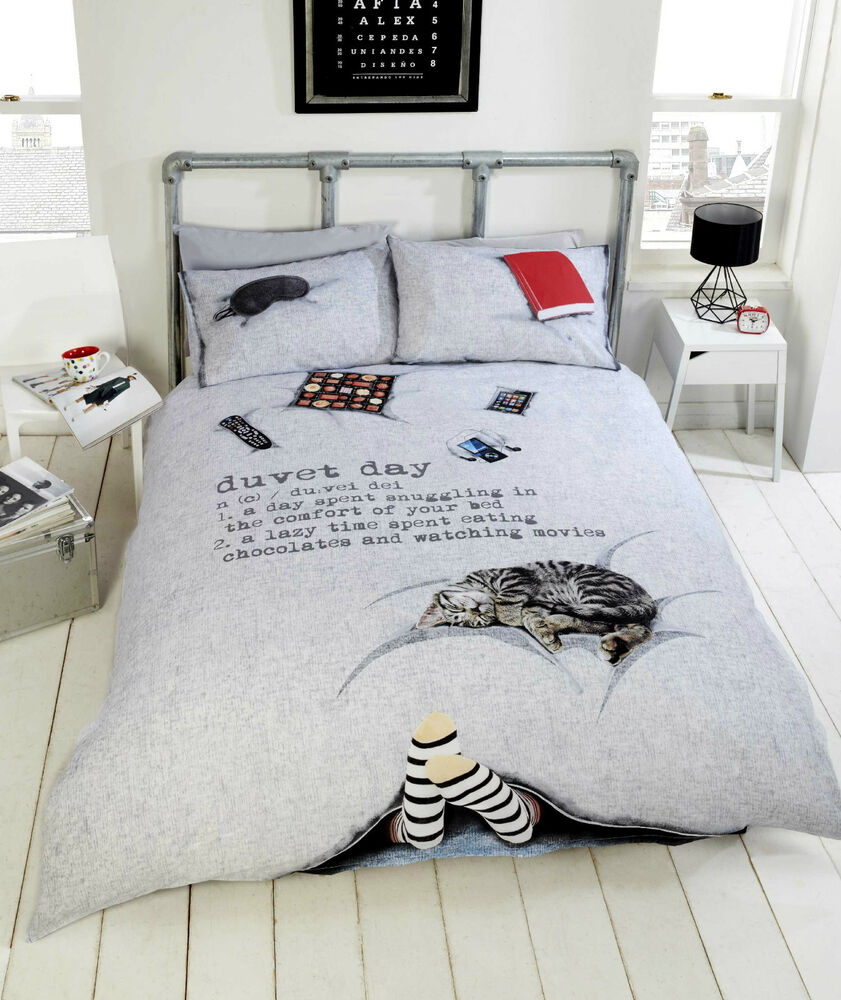 Duvet Day Cosy Cat Ipad Ipod 3d Photographic Duvet Quilt