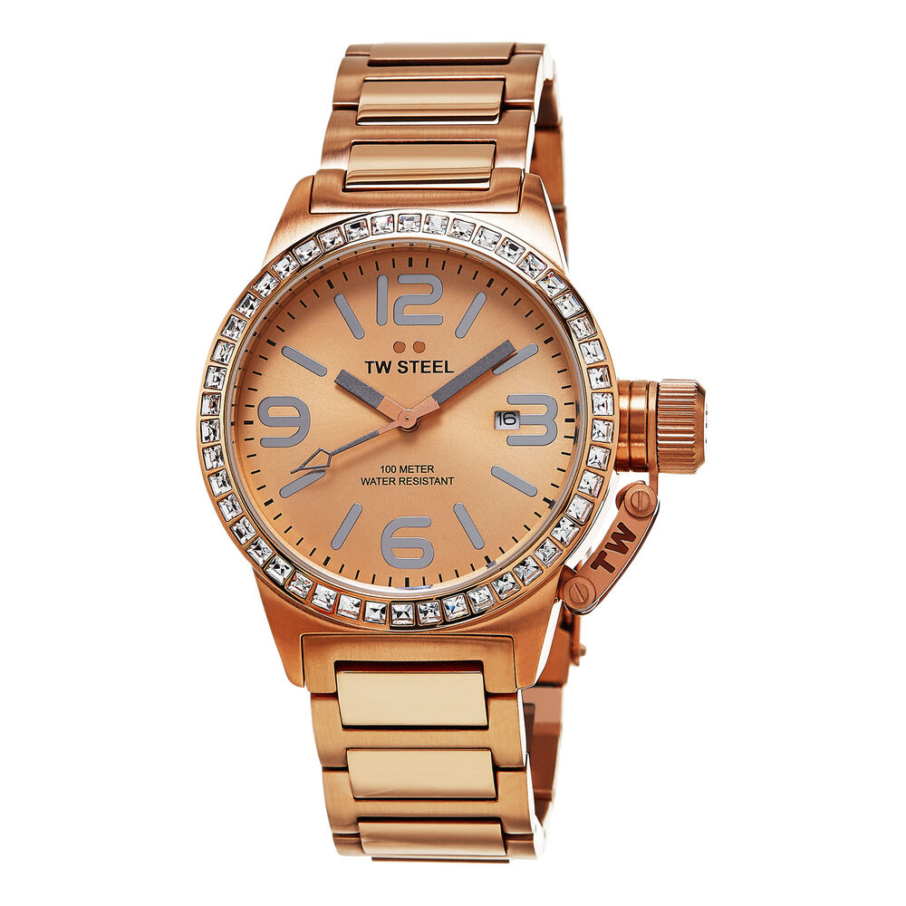 TW Steel Women's Canteen Rose Gold Tone Stainless Steel ...