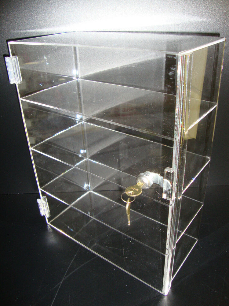 Acrylic Countertop Display Case 12 Quot X 6 Quot X 16 Quot Locking