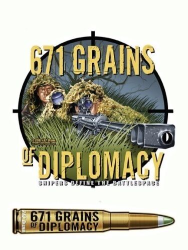 671 grains of diplomacy snipers military vinyl sticker decal by 7 62 design ebay
