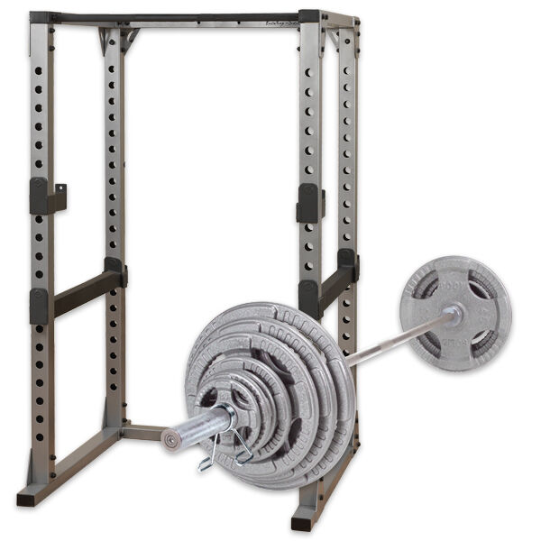 Power Rack With Weights: GPR378 Power Rack 300 Lb Steel Grip Olympic Weight Set