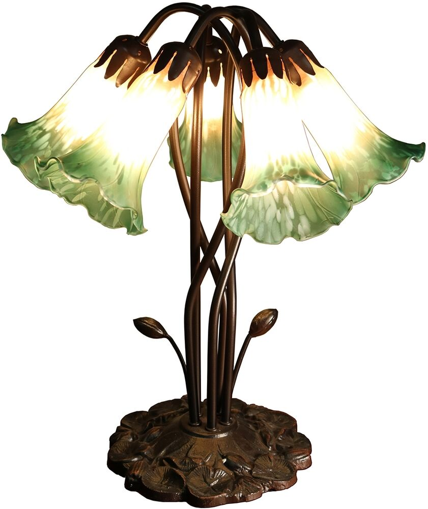 Stained Glass Table Lamp Tiffany Style Desk Art Deco