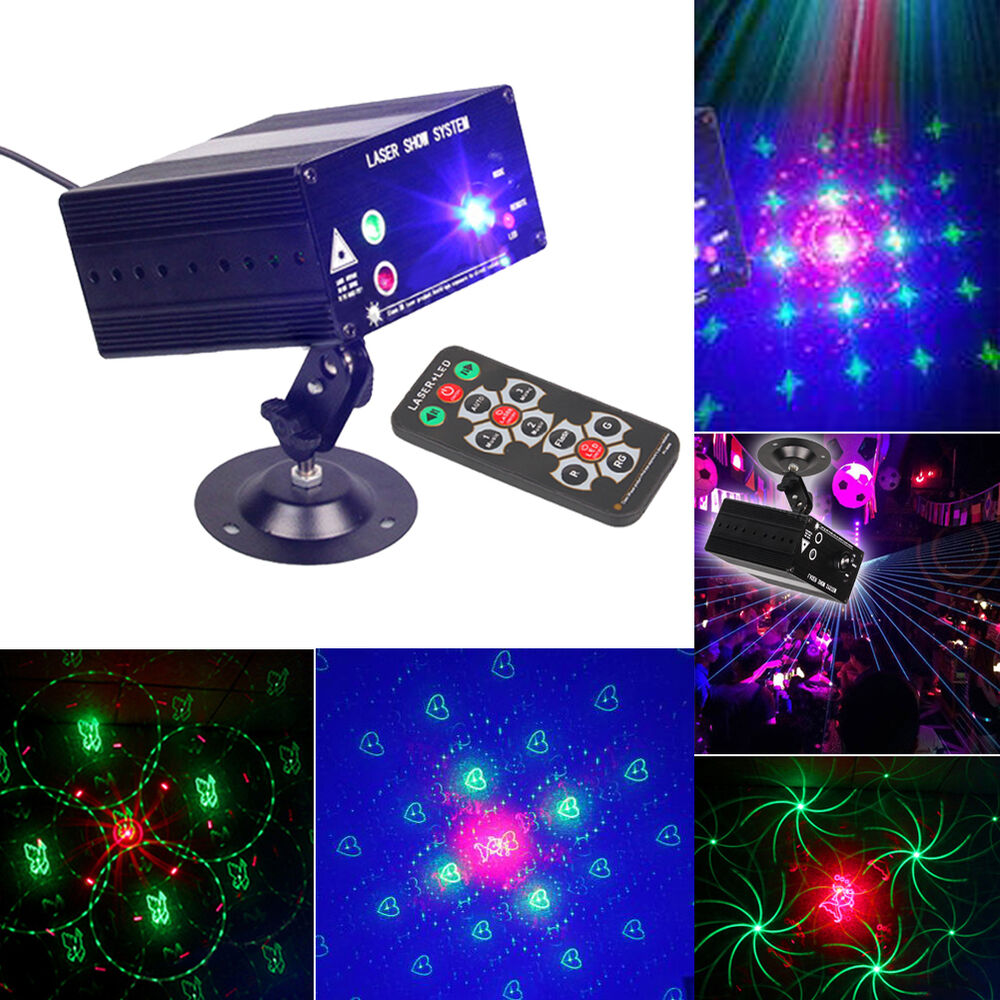 48 Pattern Laser Projector Light Led Dj Disco Stage Party