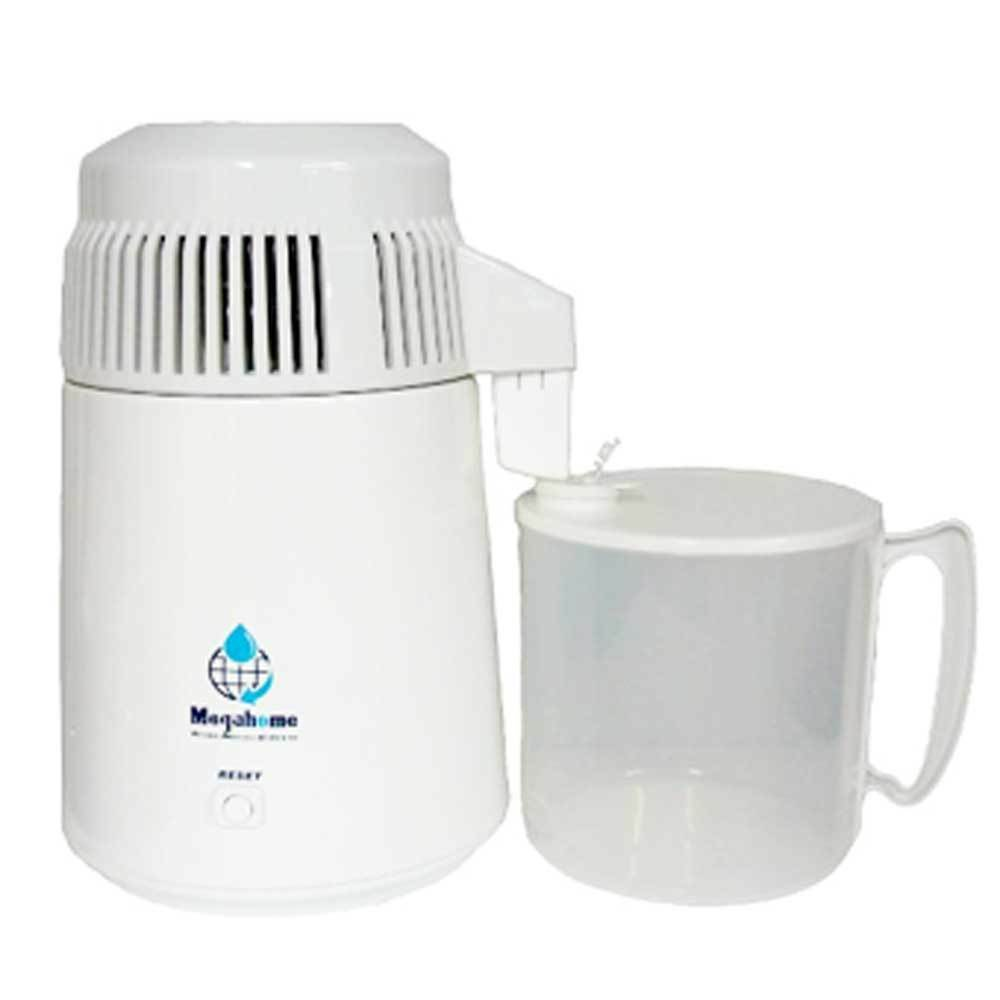 Counter Top Water Distiller ~ Megahome white water distiller plastic collection easy