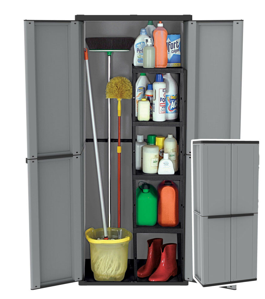 plastic garden storage cupboard outdoor sheds garages plastic cabinet 368 ebay. Black Bedroom Furniture Sets. Home Design Ideas
