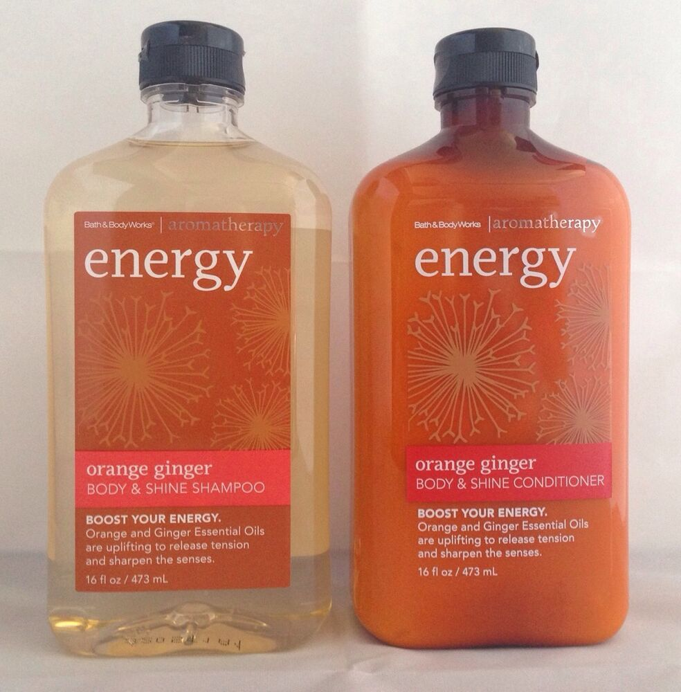 Ginger shampoo and conditioner