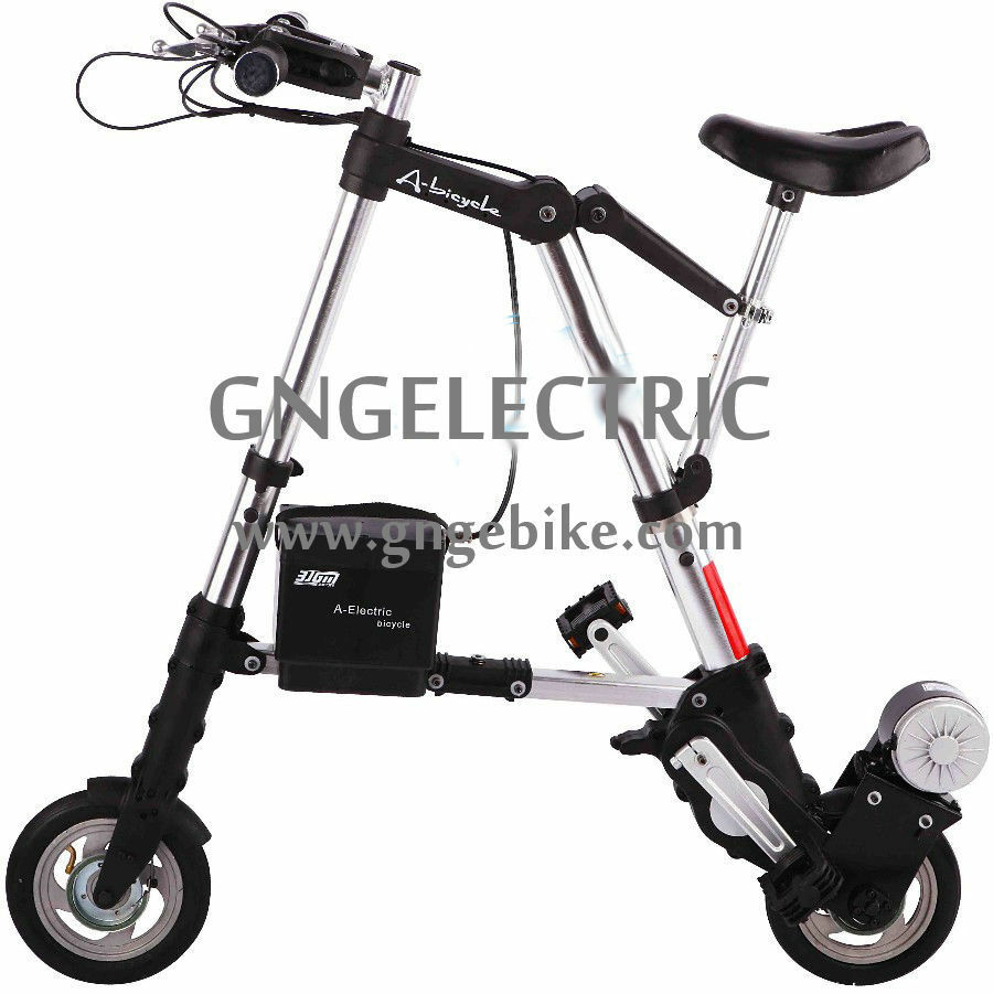 8 24v250w electric a bike mini folding bicycle foldable e. Black Bedroom Furniture Sets. Home Design Ideas