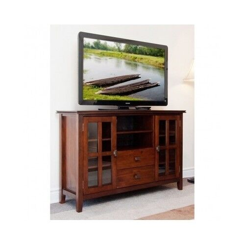Media Room Storage: TV Stand Entertainment Center Wood Storage Console Media