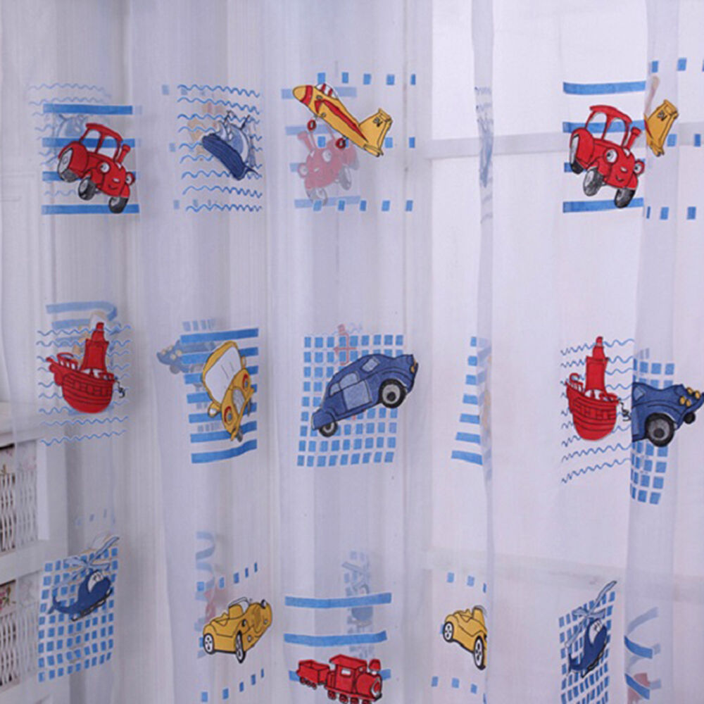 Cartoon voile blackout curtains for kids room window curtains tulle sheer r ebay - Amusing kids room curtains ...