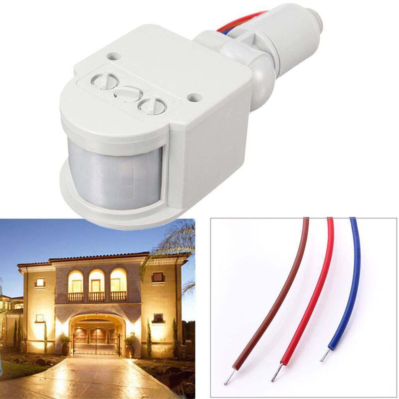 PIR Infrared Motion Sensor Detector For Outdoor Security Lights Floodlights