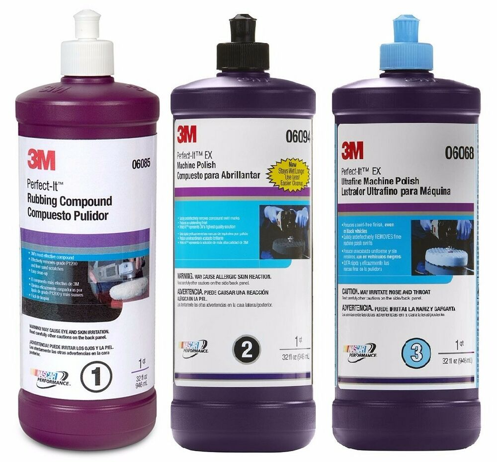 Car Detailing Supplies >> 3M Perfect-It Buffing Compound & Polishing Kit 06085 06094 06068, 6085 6094 6068 | eBay